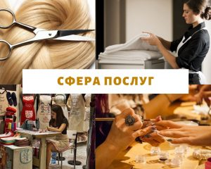Сфера послуг Сфери виробництва і професії